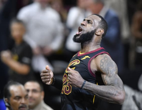 LeBron's buzzer-beating shot wins huge playoff game