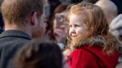 A Little Girl Met Prince Harry By Holding Up A 'Gingers Unite'