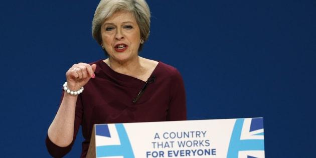 Le Premier Ministre Theresa May lors de son discours à la conférence annuelle du Parti Conservateur le 5 octobre 2016.