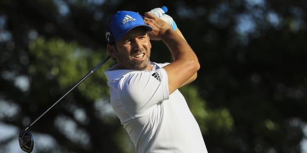 Sergio Garcia, golfista español, en Palm Beach Gardens, Florida.
