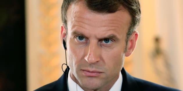 Emmanuel Macron à l'Elysée le 17 juillet.