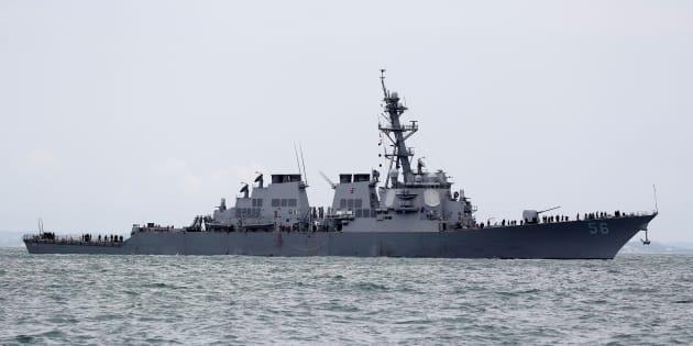 Le destroyer lance-missiles USS John S. Mcain. (Photo d'illustration)