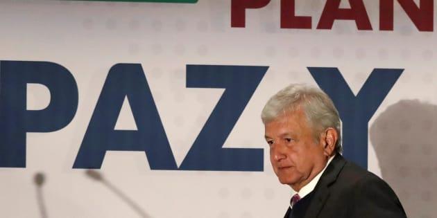 El presidente electo, Andrés Manuel López Obrador, presenta el Plan de Paz y Seguridad 2018-2024 el pasado miércoles 14 de noviembre.