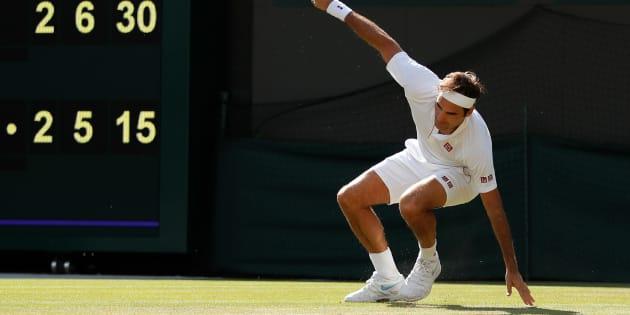 Roger Federer à Wimbledon ce 11 juillet.