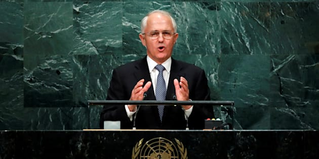 Australia's Prime Minister Malcolm Turnbull addresses the United Nations General Assembly in New York.