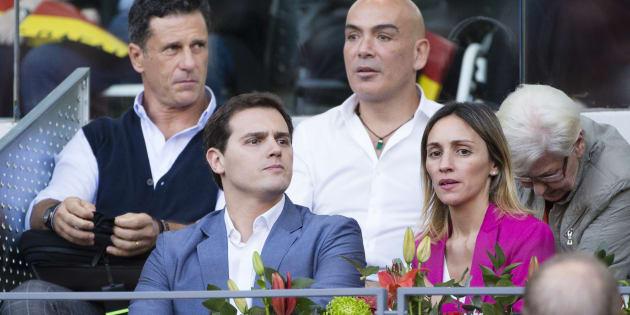 Kike Sarasola y Albert Rivera en el Máster de Tenis