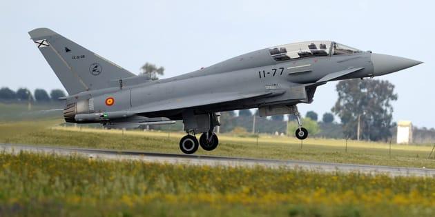 Un Eurofighter pilotado por el entonces príncipe Felipe, en la base de Morón de la Frontera (Sevilla), en abril de 2008.
