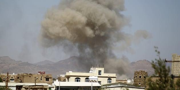 Le ministère de la Défense à Sanaa bombardé par la coalition dirigée par Riyad (photo d'illustration).