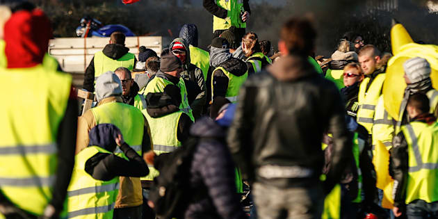 Gilets jaunes rassemblés près de Caen (Photo d'illustration)