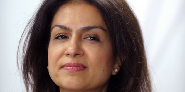 Mouna Sepehri à l'aéroport d'Orly le 17 mai 2013.