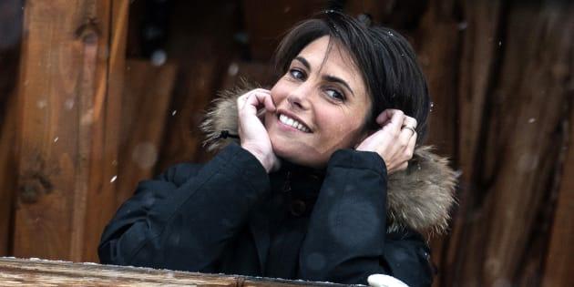 Alessandra Sublet le 16 janvier 2015 au festival de l'Alpe d'Huez.