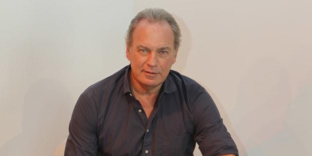 El presentador y cantante Bertín Osborne durante la presentación de su disco 'Crooner'.