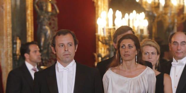 Sandro Rosell en en el Palacio Real