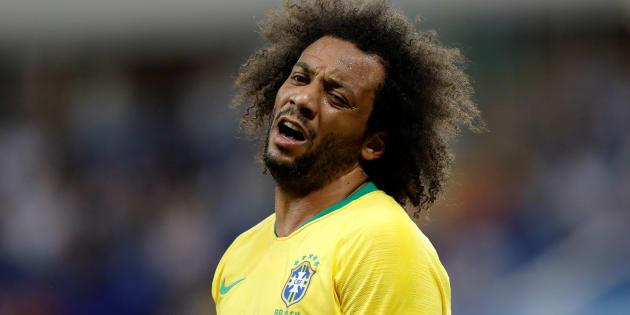 Marcelo, capitão contra a Suíça, sentiu lesão na região lombar e deixou o campo logo no início diante da Sérvia.