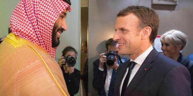 Risultati immagini per Macron con Bin Salman