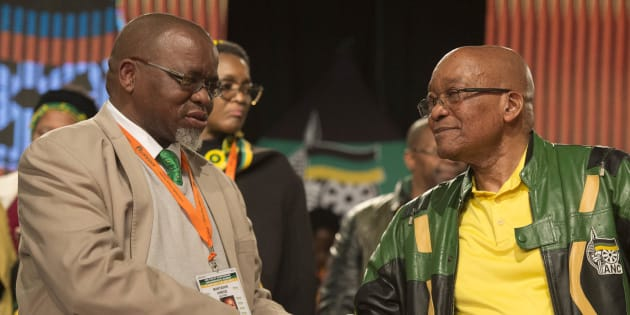 Gwede Mantashe and President Jacob Zuma.
