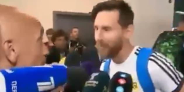 Messi dévoile son porte-bonheur — Vidéo