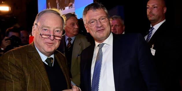 Jörg Meuthen et Alexander Gauland, le duo à la tête du parti d'extrême droite AfD.