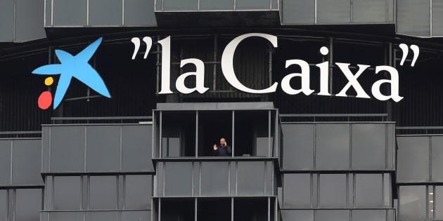 Oficinas centrales de Caixabank en la avenida Diagonal de Barcelona.