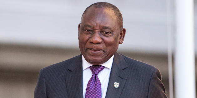 President Cyril Ramaphosa arrives to deliver his State of the Nation address at Parliament in Cape Town, South Africa, February 16, 2018.