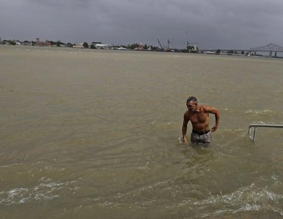 Tropical Storm Barry starts lashing Louisiana