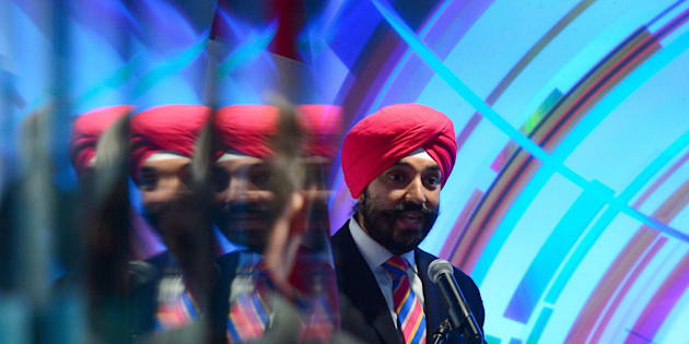 Innovation, Science and Economic Development Minister Navdeep Bains takes part in a technology event in Ottawa on May 8, 2017.