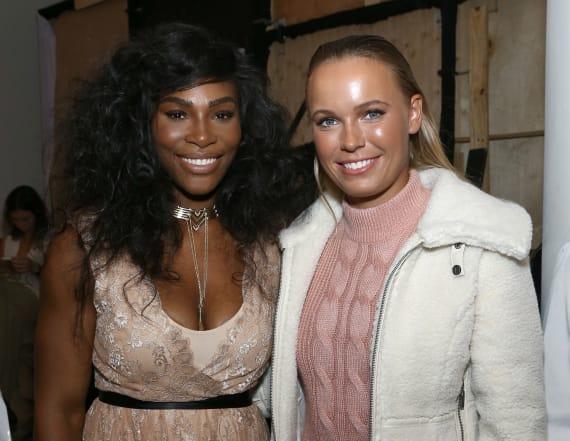 Serena serves as bridesmaid for Caroline Wozniacki