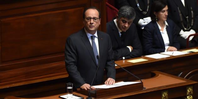 François Hollande, au Congrès à Versailles, après les attentats du 13 novembre.