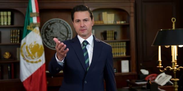 El presidente mexicano Enrique Pena Nieto da un mensaje ante la decisión del estadounidense Donald Trump de envíar elementos de la Guardia Nacional a la frontera.