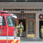 Incendie majeur à l'hôtel Clarendon du