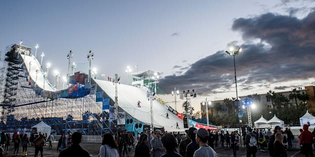 This was the ramp at AIR + STYLE in L.A. in February, 2017. Look out, Sydney.