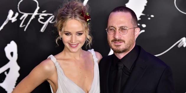 Jennifer Lawrence et Darren Aronofsky lors de la première new-yorkaise de 'mother!' le 13 septembre 2017.