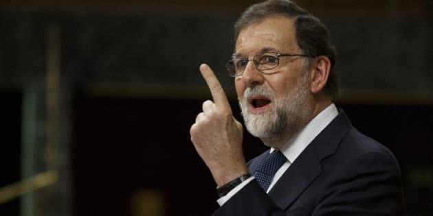 Le Premier ministre espagnol Mariano Rajoy au parlement espagnol, le 11 octobre.