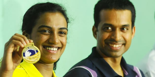 File photo of PV Sindhu with coach Pullela Gopichand.