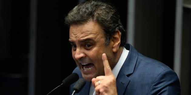 """""""Fui condenado previamente sem nenhuma chance de defesa"""", disse Aécio Neves."""