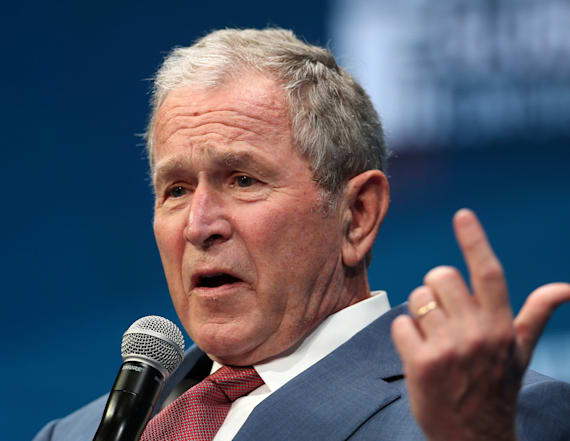 George W. Bush jabs at Trump's America