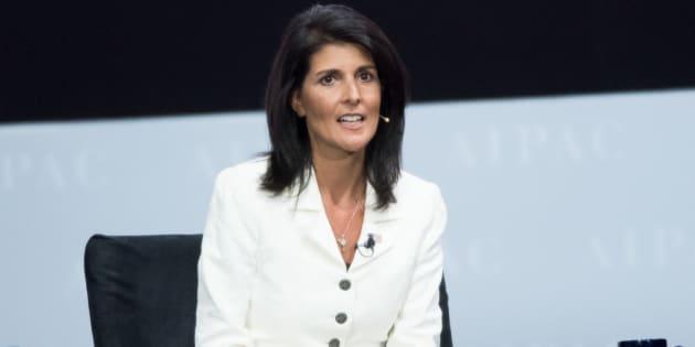 File photo of United States Ambassador to the United Nations Nikki Haley.