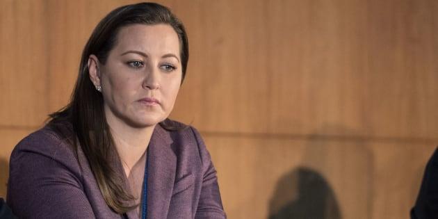 Martha Erika Alonso, candidata a la gubernatura de Puebla, durante la sesión extraordinaria del Comité Ejecutivo Nacional (CEN) del PAN.