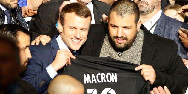 Emmanuel Macron lors d'un meeting à Marseille, le 1er avril 2017.