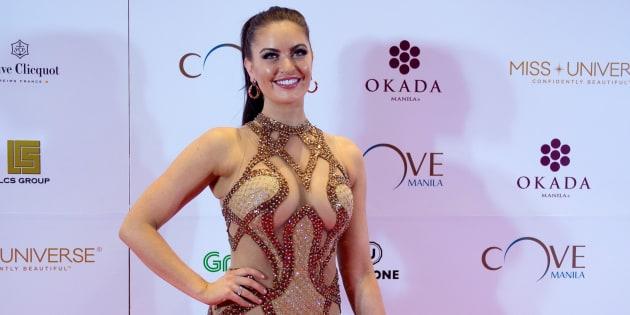 """Miss Canada Siera Bearchell foi criticada por estar """"fora do padrão"""" das misses no Miss Universo deste ano"""