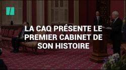 La CAQ présente le premier cabinet de son