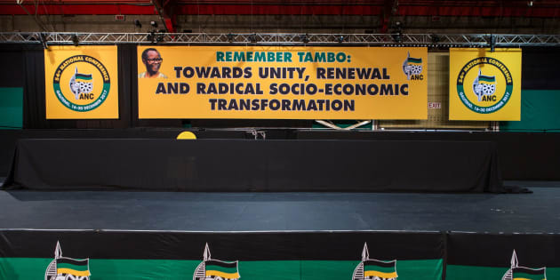 The stage in the plenary hall at Nasrec where the ANC's 54th national conference is being held.