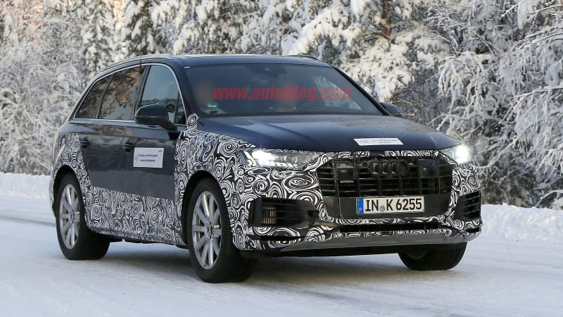 2020 Audi Q7 spy photos reveal a facelift is coming