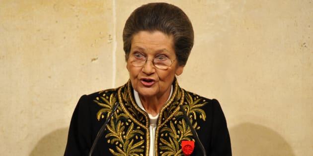 Simone Veil avait été élue à l'Académie française.