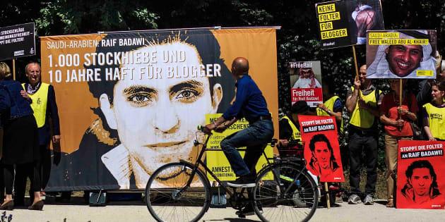 Manifestation pour Raif Badawi, Berlin, juin 2015.