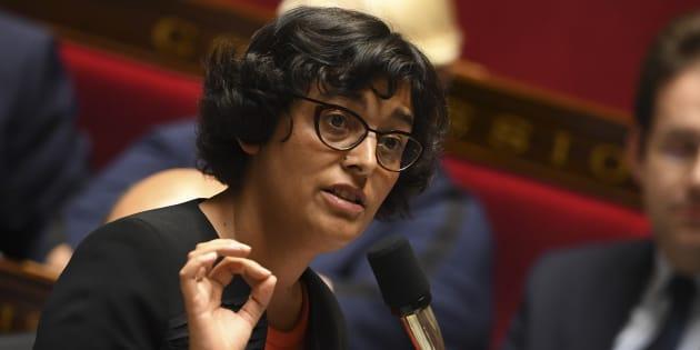 Myriam El Khomri, ministre du travail lors des questions de l'Assemblée nationale au gouvernement le 19 octobre 2016. AFP PHOTO / Eric FEFERBERG