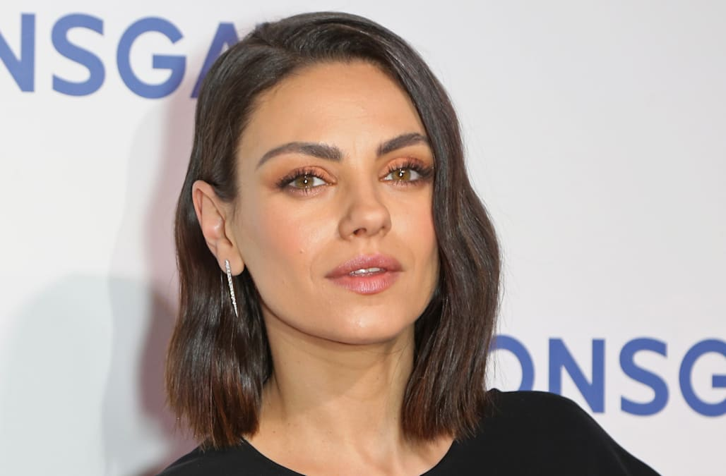 mila kunis addresses divorce and pregnancy rumors and the stress it causes family - Candy Christmas Divorce