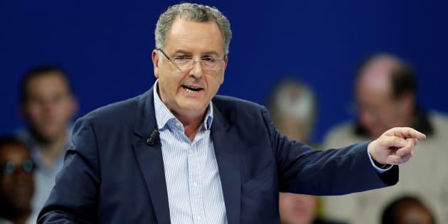 Richard Ferrand lors du meeting d'Emmanuel Macron le 10 décembre à Paris. REUTERS/Benoit Tessier