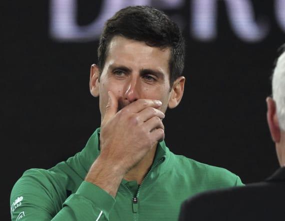 Novak Djokovic gets choked up talking about Kobe