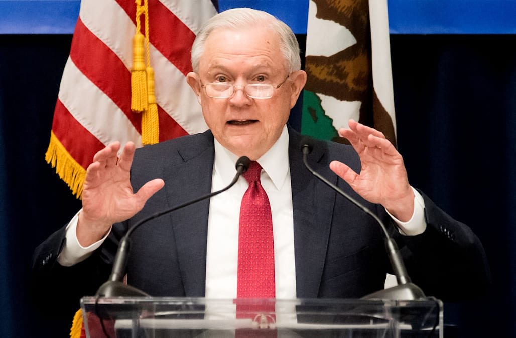 WASHINGTON Attorney General Jeff Sessions Urged Federal Prosecutors Monday To Bring Criminal Charges Against People Who Falsely Claim Theyre Legally